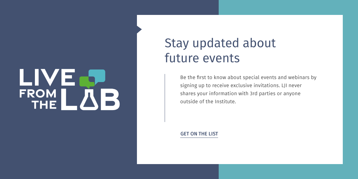 Stay updated about future events