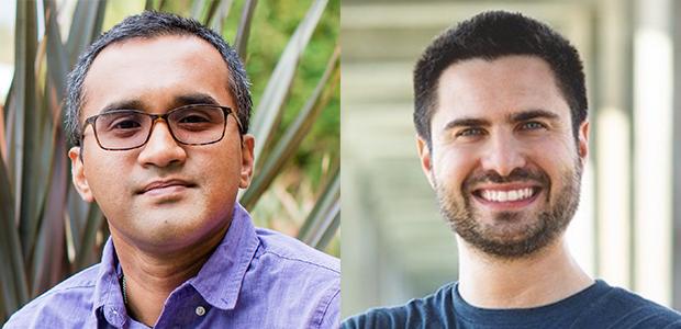 Abhijit Chakraborty, Ph.D., (left) and Marco Orecchioni, Ph.D., (right).
